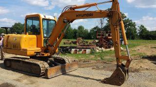2002 Hyundai Robex 55 - 3 Mini Excavator Track Hoe Tractor Diesel Machine Backhoe photo