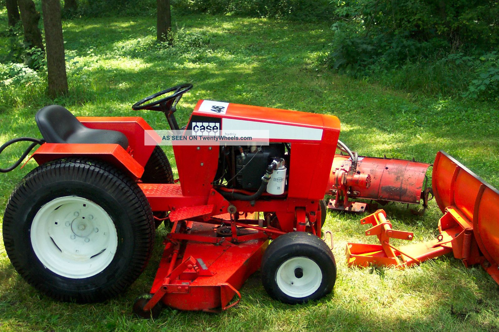 Case 446 garden tractor with 48 deck and snow plow for Garden machinery for sale