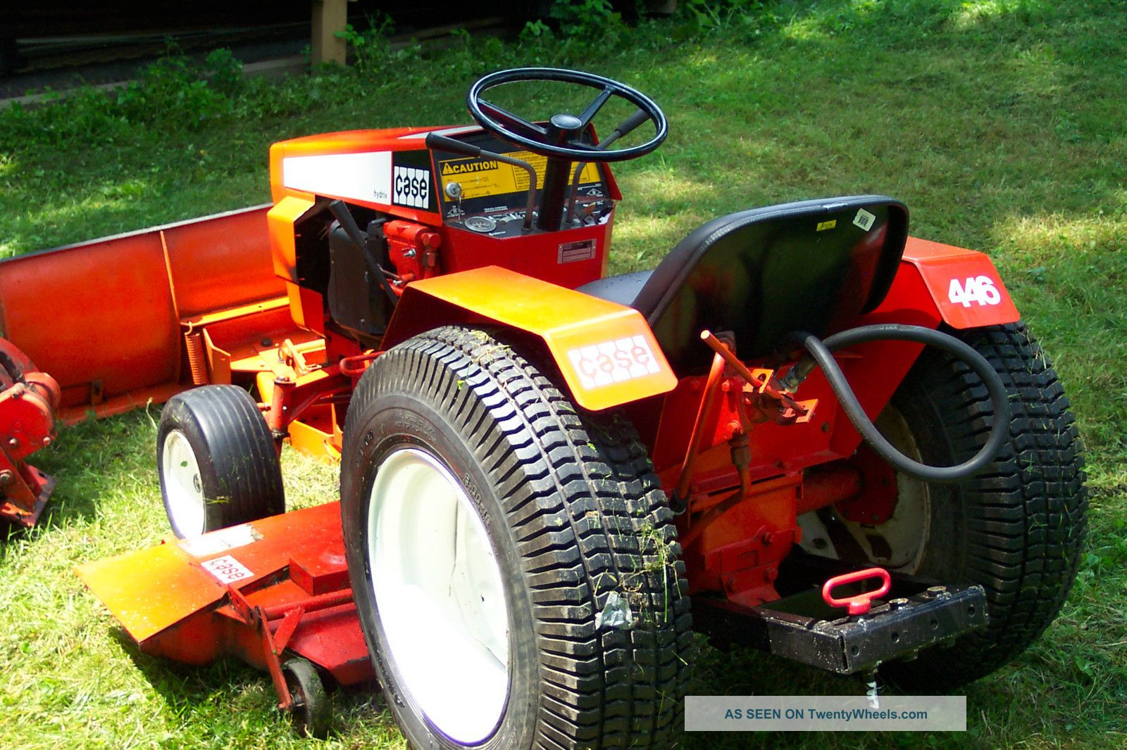 Case Garden Tractor Plow : Case garden tractor with deck and snow plow