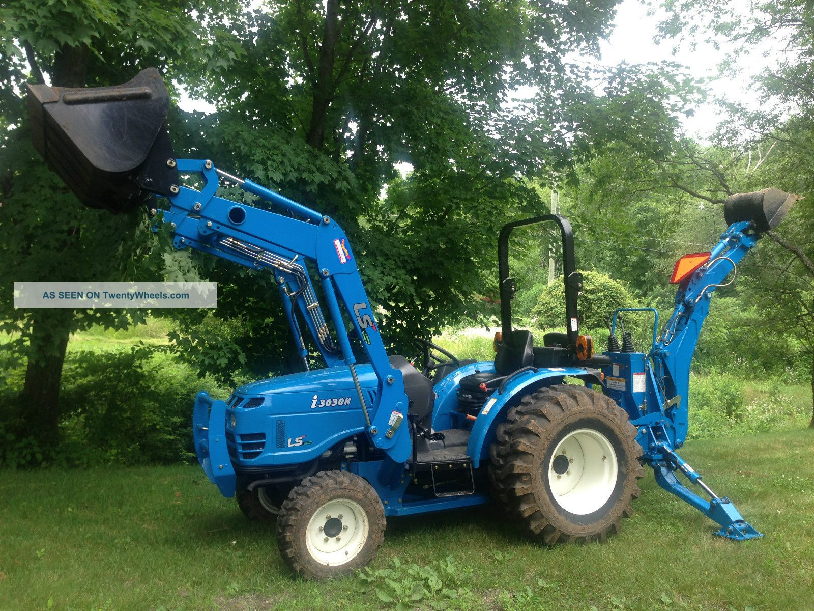 Ls I3030 Tractor W Backhoe Snowplow Case Ford Holland 30hp