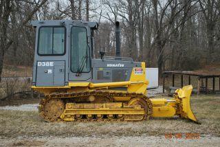 Komatsu D38e Dozer Loader Tractor 6 Way Blade Crawler Bob Cat Track D 37 31 photo