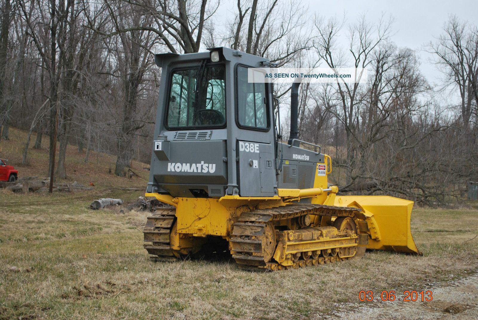 Komatsu D38e Dozer Loader Tractor 6 Way Blade Crawler Bob Cat Track