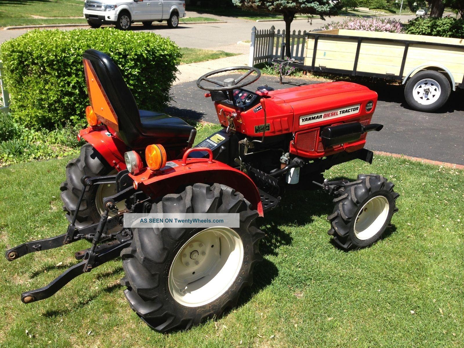 Antique Yanmar Tractors : Yanmar ym d fwd diesel tractor with mower weights