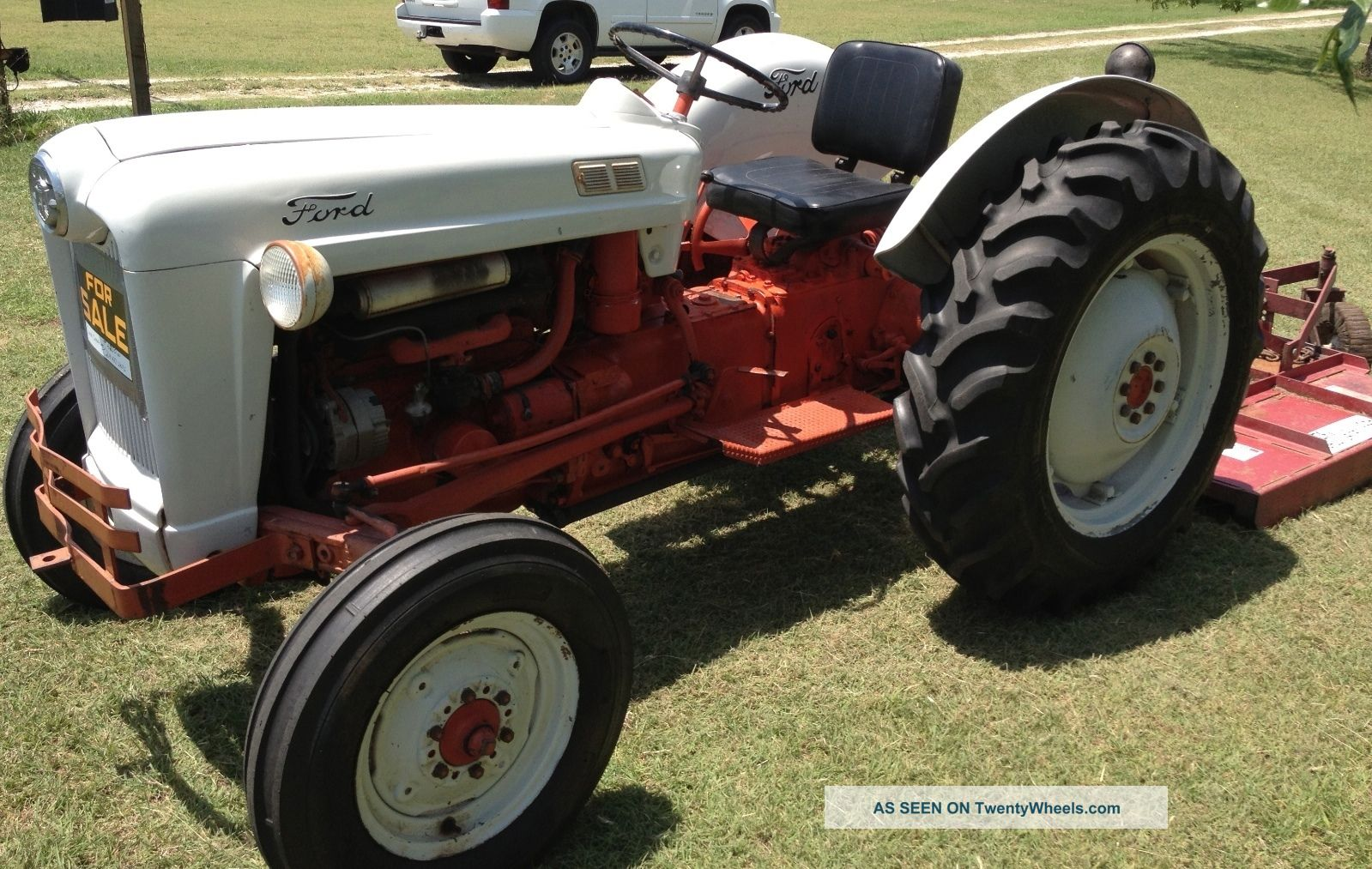1956 Ford Tractor : Ford tractor with mower model