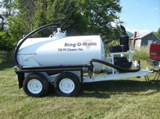 Ring - O - Matic 750 Vac Pit Cleaner Sludge Pump Trailer Mounted Robin Engine photo