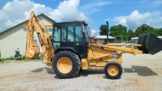 1990 Ford 655c Loader Backhoe Tractor Extenda Hoe photo