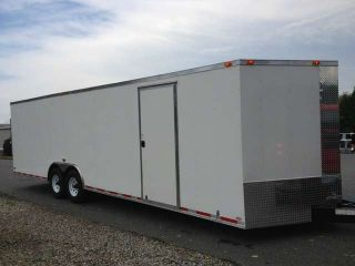 8.  5x24 Enclosed Trailer Cargo V - Nose Utility Motorcycle Landcape 22 2013 photo