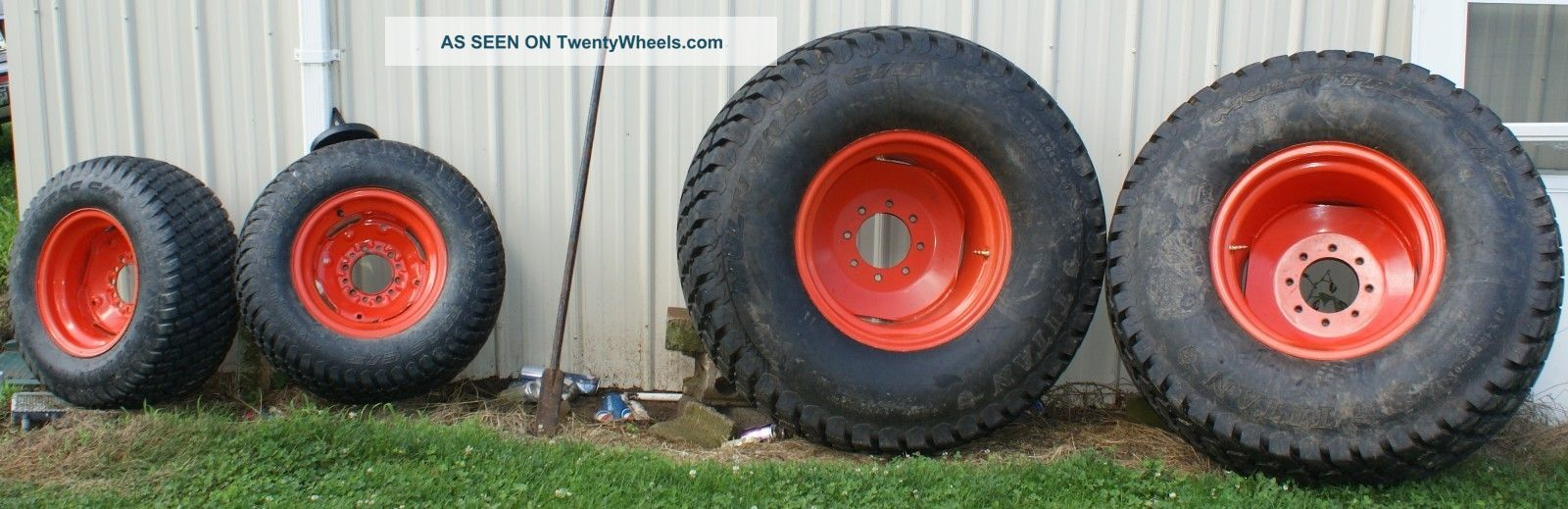 Kubota Turf Tires/wheels 50/30 Tractor Titan 44x18,  00 - 20 Nhs,  29x12.  50 - 15 Nhs + Tractors photo