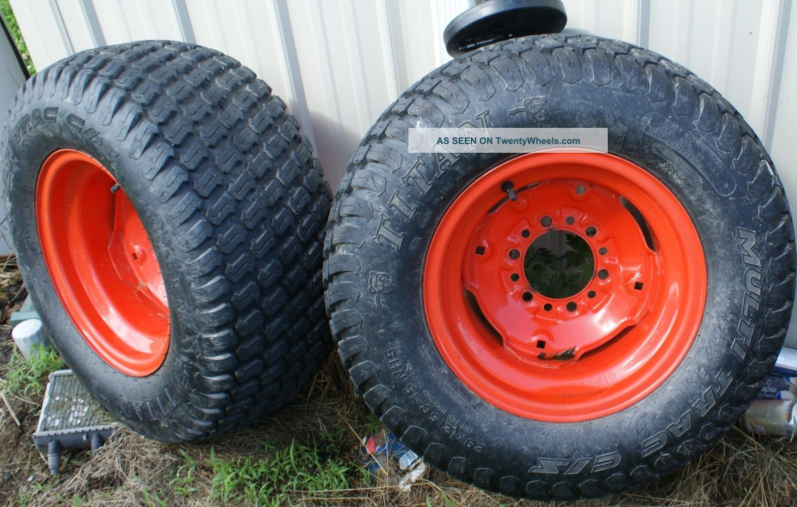 Used Kubota Tractor Wheel : Kubota turf tires wheels tractor titan