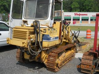 Komatsu D31s Crawler/loader W/ Front Mount Bush Hog photo