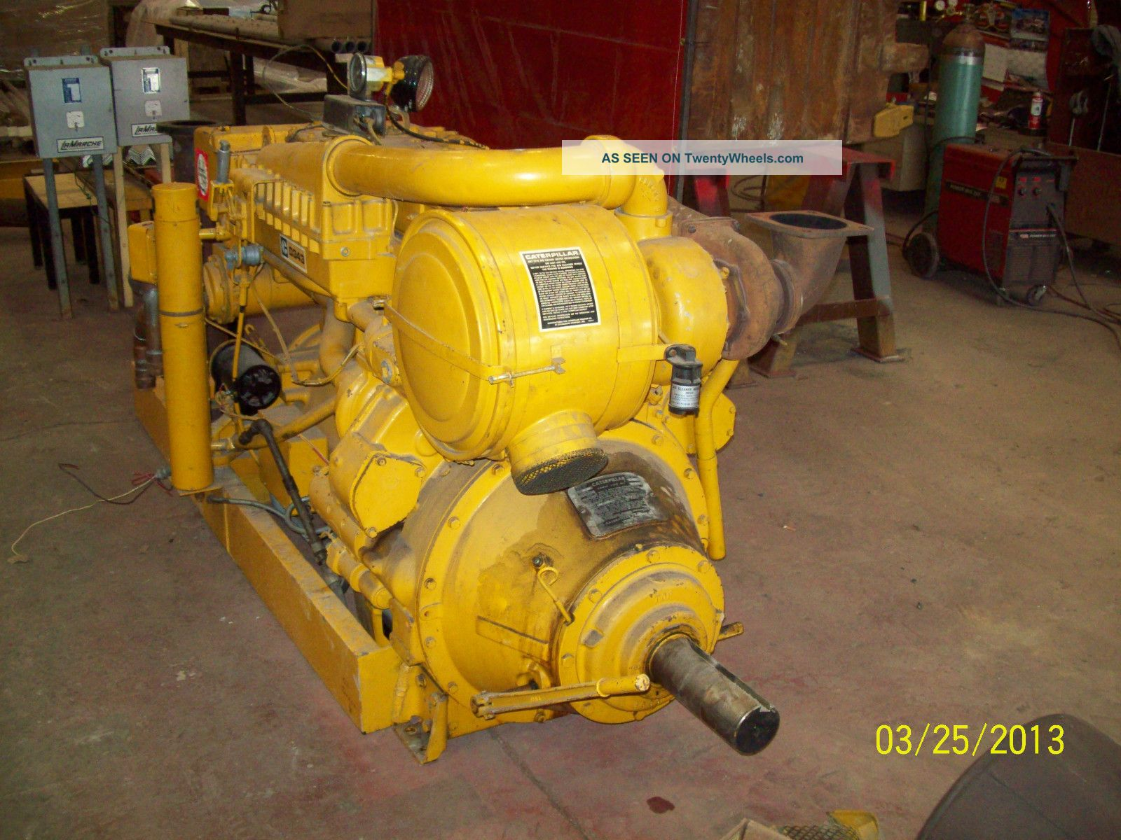 Cat D343 Turbo Charged Engines W/ Pto & Ac Generator