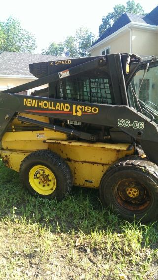 2004 Holland Ls 180 Skid Steer With 10 ' Snow Pusher photo
