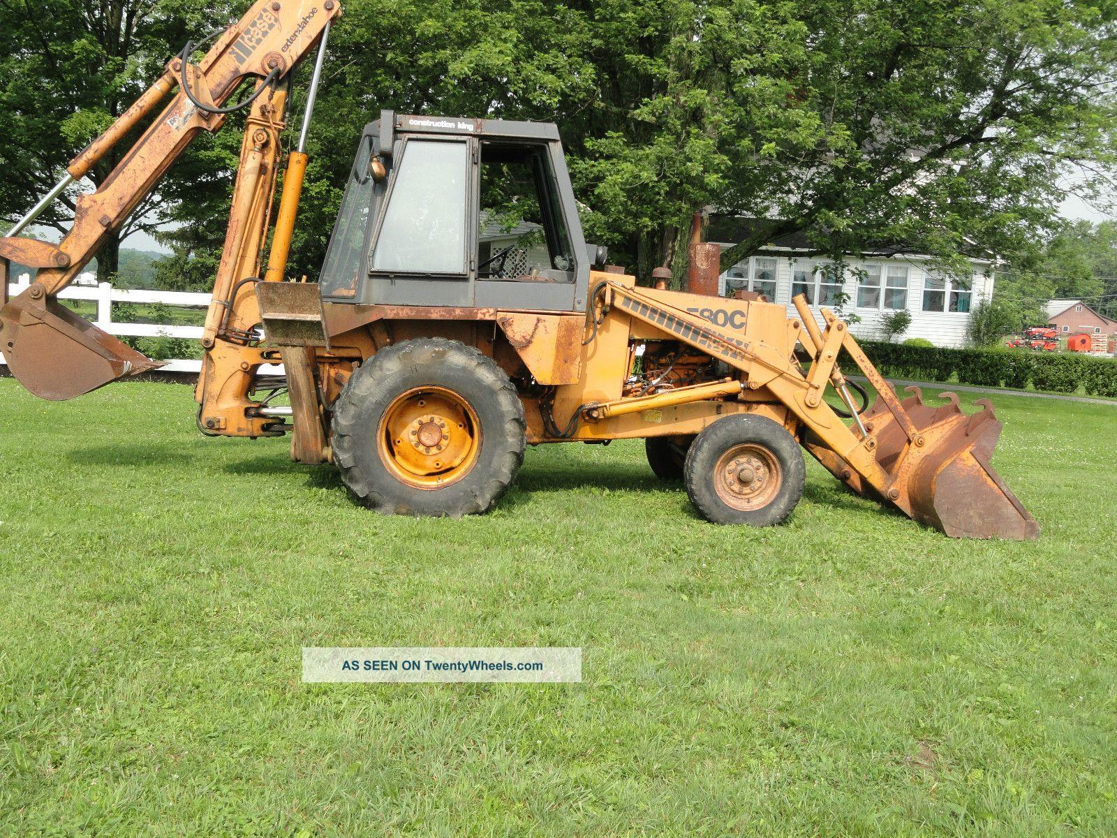 Case 580c Backhoe : J i case c tractor loader