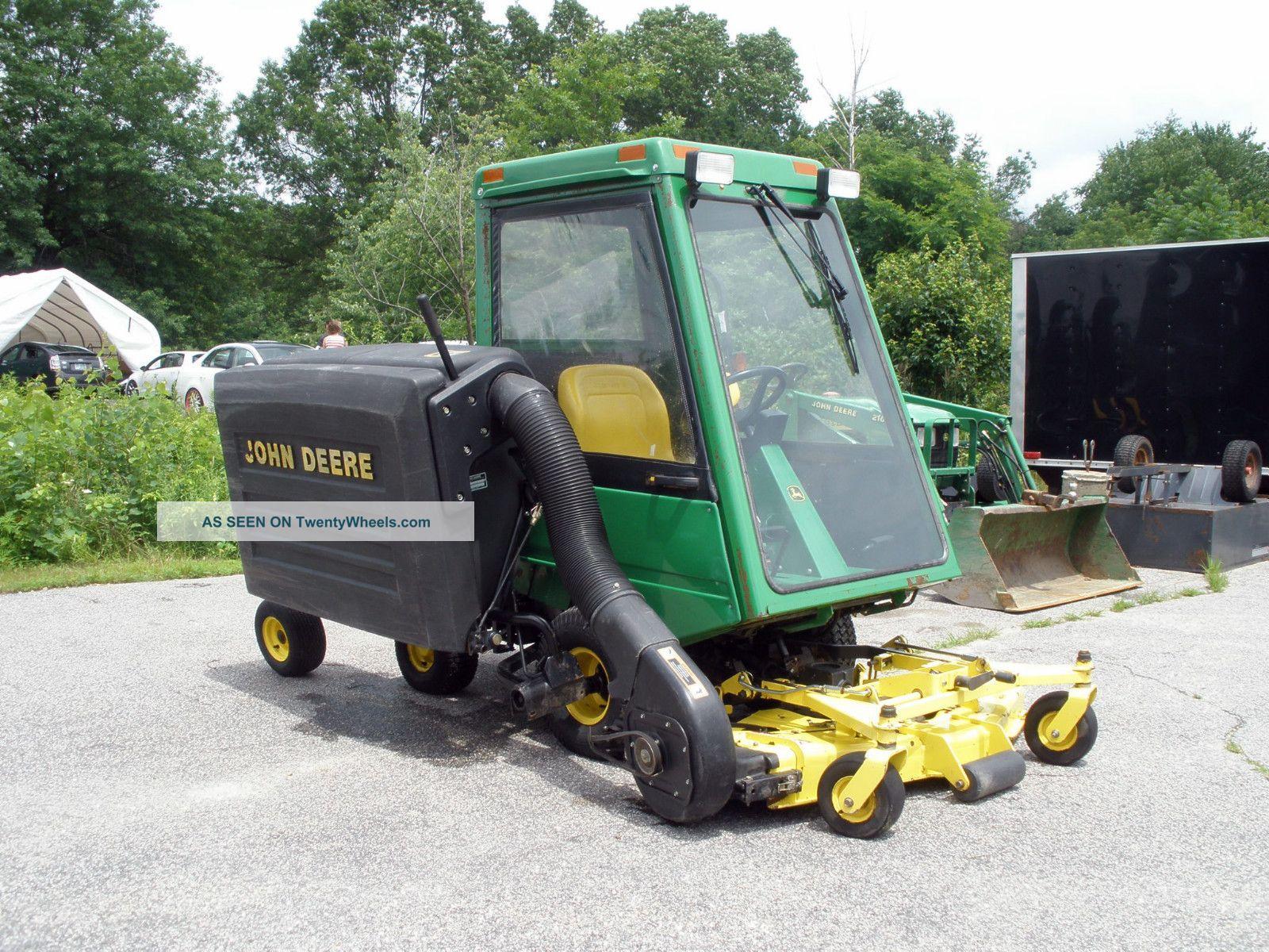 John Deere F735 Diesel Front Mount Tractor W/ Mower, Mcs, Cab & Snow Blower
