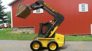 2003 Holland Ls170 Skid Steer Loader W/ Cab & Heat 631 Hours Aux.  Hydraulics photo
