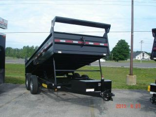 Dump Trailer 7x14 14k Gvrw Powdercoated Dual Cylinder photo