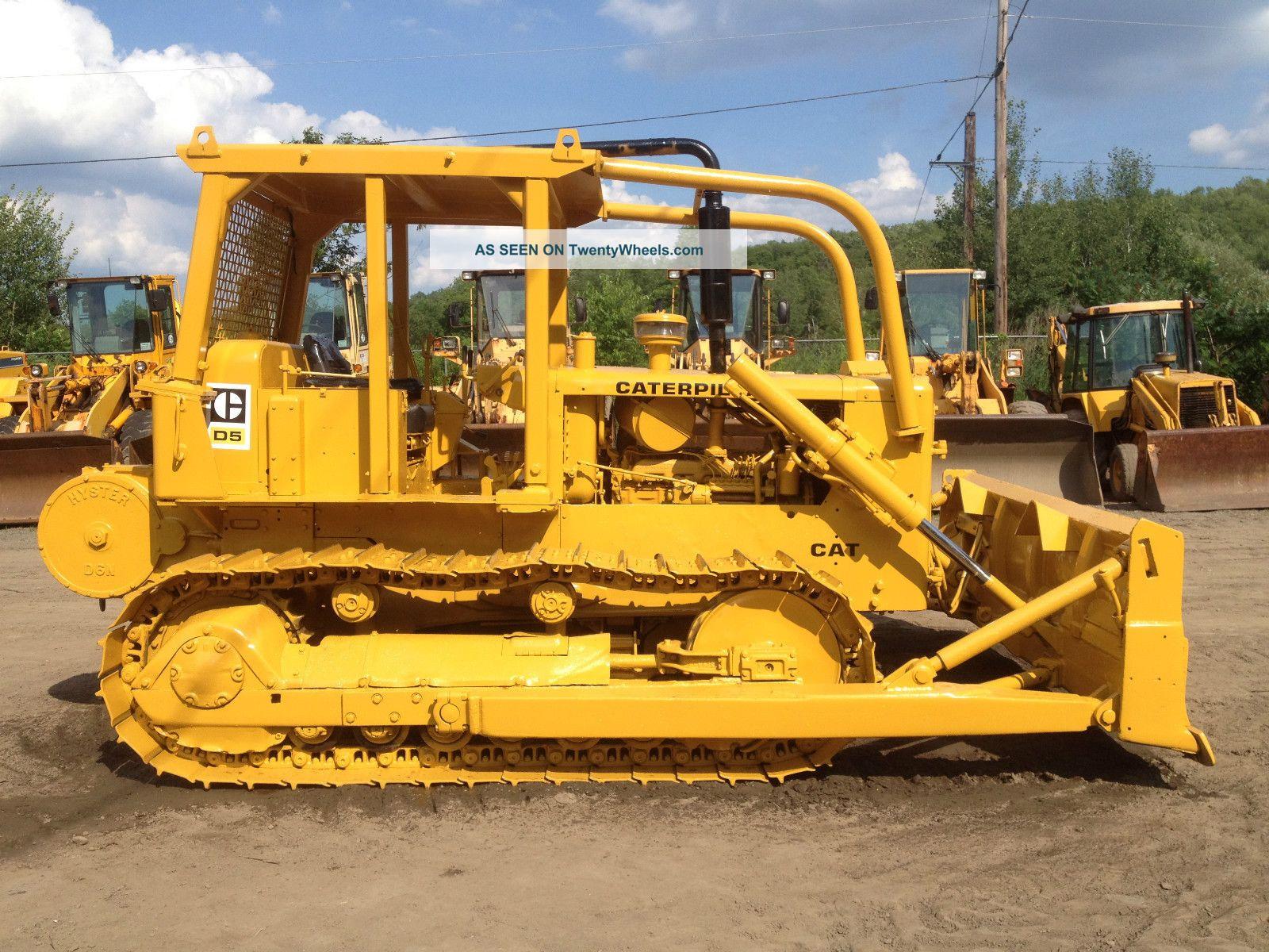Caterpillar Cat D5 Crawler Loader Bulldozer Dozer Excavator