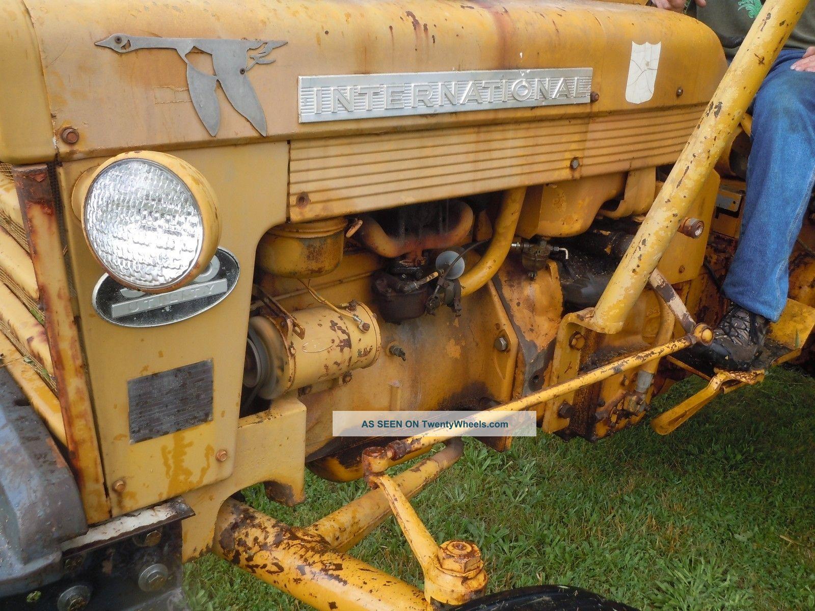 1960 340 International Utility Tractor : International industrial tractor  bush hog mower
