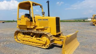 1987 John Deere 450e Track Crawler Loader Construction Machine Tractor Bulldozer photo