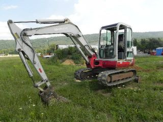 2000 Takeuchi Tb145 Mini Excavator Cab Heat Swing Boom 2 Speed Yanmar Diesel photo