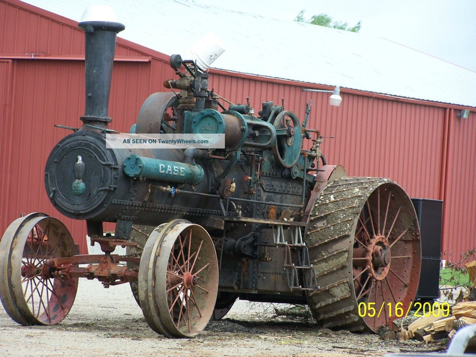 1909 25/75hp Case Steam Traction Engine Antique & Vintage Farm Equip photo