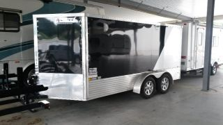 2012 United 14 ' V - Nose Motorcycle Trailer photo