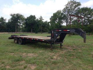 25ft Tandem Dual Gooseneck Trailer photo