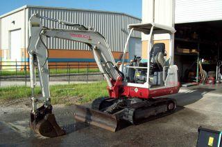 Takeuchi Tb125 Mini Excavator,  2008,  Digs 9 ' 5