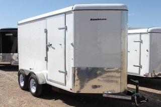 6 X 12 Tandem - V - Nose Enclosed Cargo Trailer Dallas Fort Worth Austin photo