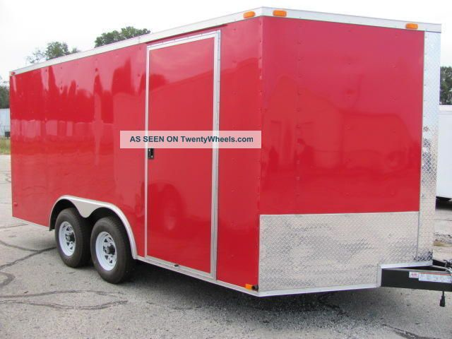8.  5x16 Enclosed Trailer Cargo V - Nose Car Hauler Motorcycle Construction 8 18 Trailers photo