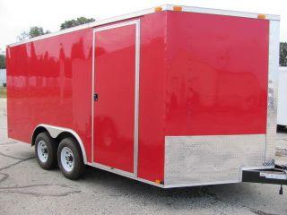 8.  5x16 Enclosed Trailer Cargo V - Nose Car Hauler Motorcycle Construction 8 18 photo