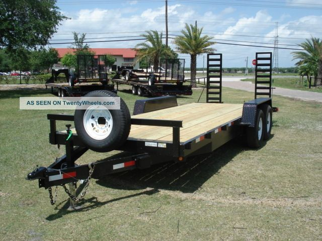 2014 20 ' 7 Ton Lowbed Equipment Trailer Flatbed Trailers photo