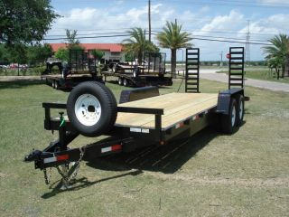 2014 20 ' 7 Ton Lowbed Equipment Trailer Flatbed photo