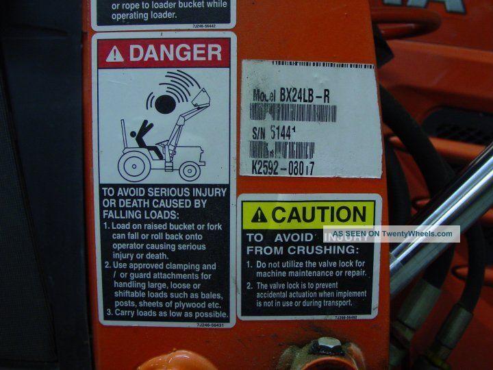 Kubota Bx24lb - R 4x4 Tractor  23hp  Loader  Backhoe  Brush Hog