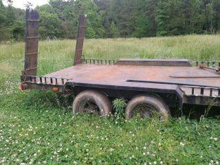 2004 7 ' X16 ' Flat Bed Tandem Axle Trailor (heavy Duty) photo