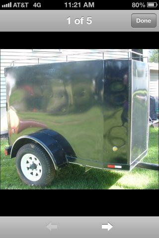 Custom Built Enclosed Cargo Utility Trailor 3 ' X6 ' X4 ' photo