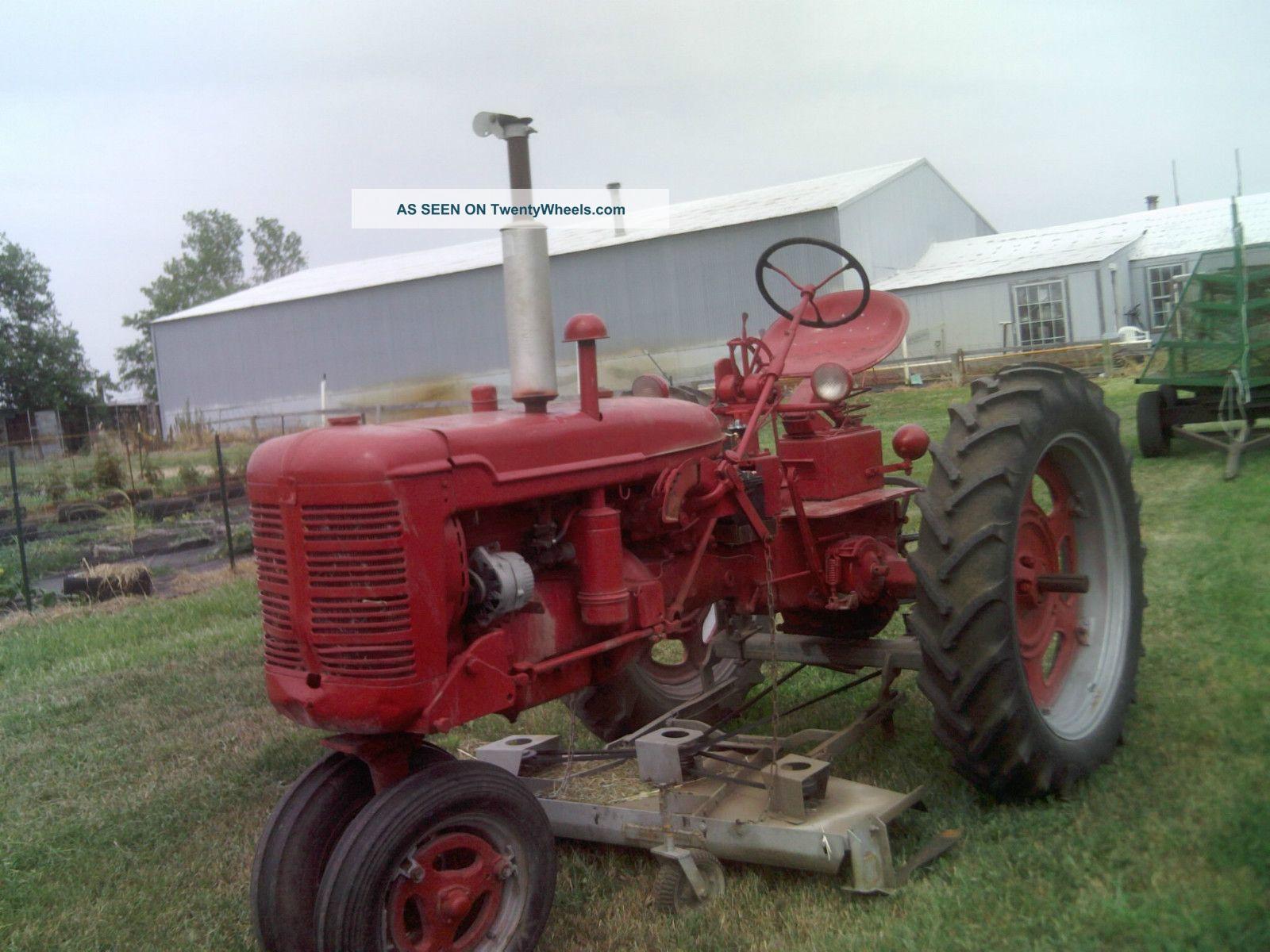 Farmall C Tractor : International farmall quot c tractor w belly mower