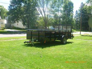 2010 Single Axle Hi - Side Utility Trailer,  Size 6.  5 ' X12 ',  Black,  Heavy Duty photo