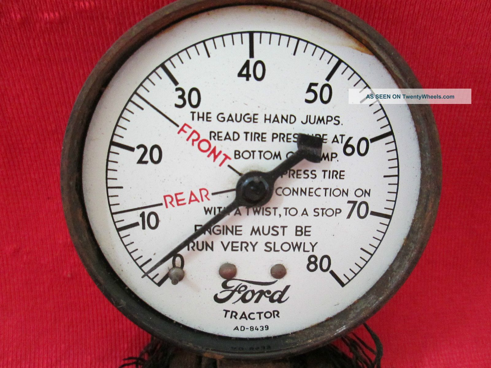 Heavy Equipment Gauges : Antique early ford tractor gauge ad