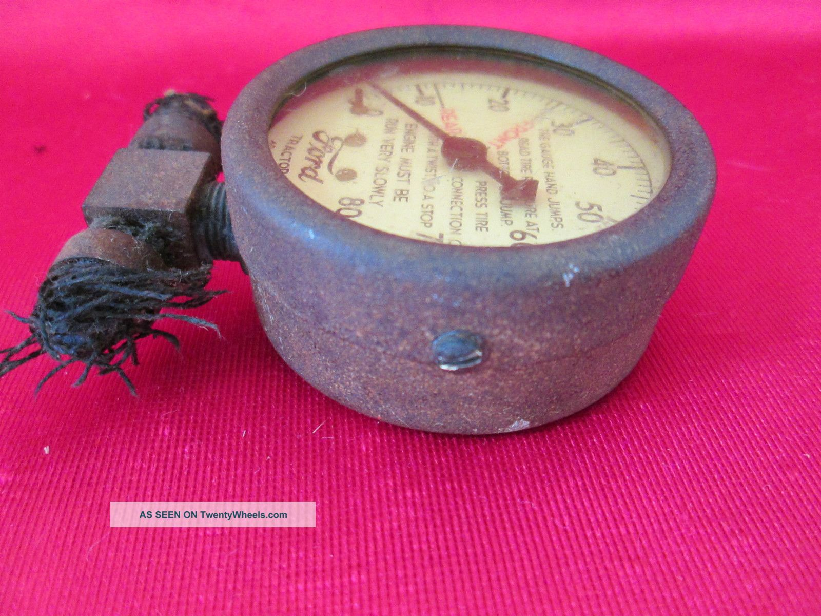 Antique Tractor Gauges : Antique early ford tractor gauge ad