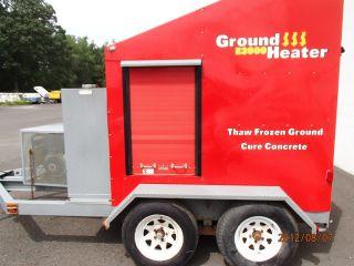 2008 Portable Ground Heater Trailer E - 3000 - Thaw Frozen Ground Concrete Heat photo