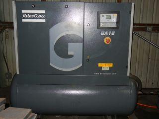 Atlas Copco Ga 18 - 125 Ap Tm Air Compressor / With Fx8 Refrigirated Air Dryer photo
