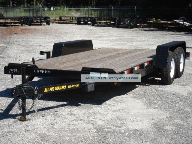 ' 14 18 ' Wood Deck Car Hauler Trailers photo