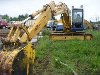 Komatsu Pc120 - 5 Hydraulic Excavator Backhoe Use On One Sub Project One Owner. photo