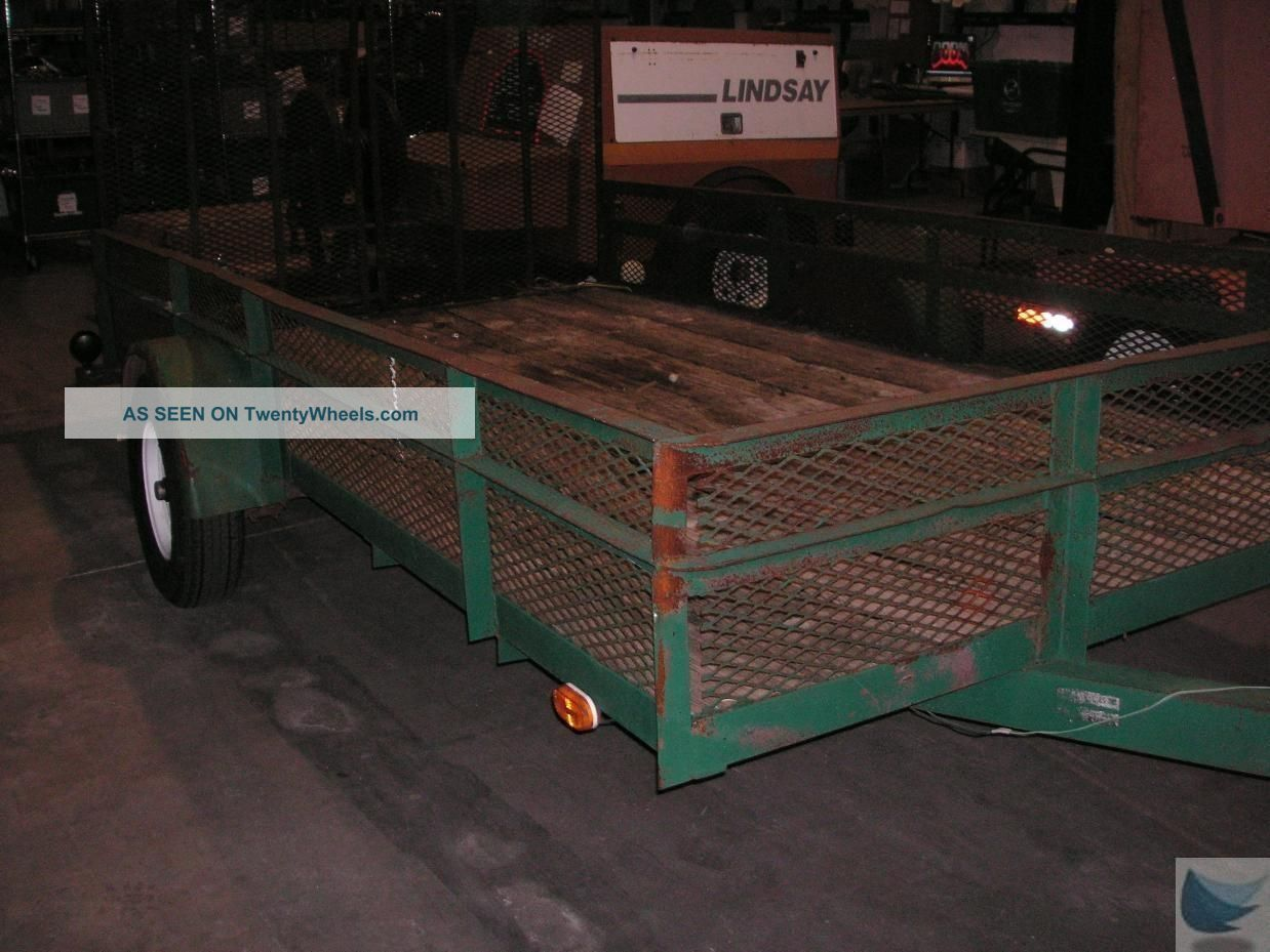 Anderson 15 Foot X 8 Foot Utility Trailer With Manually Operated Wire Mesh Ramps Trailers photo