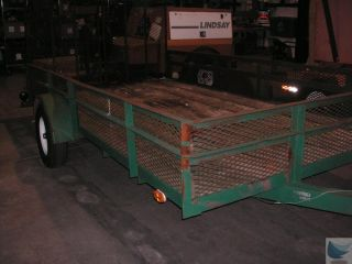 Anderson 15 Foot X 8 Foot Utility Trailer With Manually Operated Wire Mesh Ramps photo