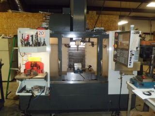 2012 Haas Vf1 Cnc Vertical Machining Center 20x16 Mill Ct40 10,  000 Rpm Side Mnt photo