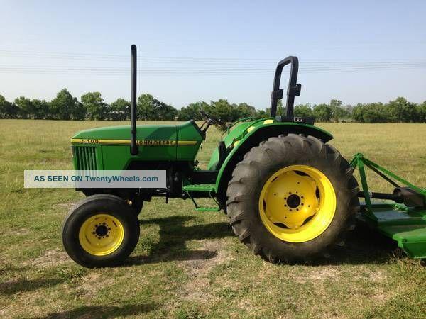 John Deere 5400 Tractor With Mower Tractors photo