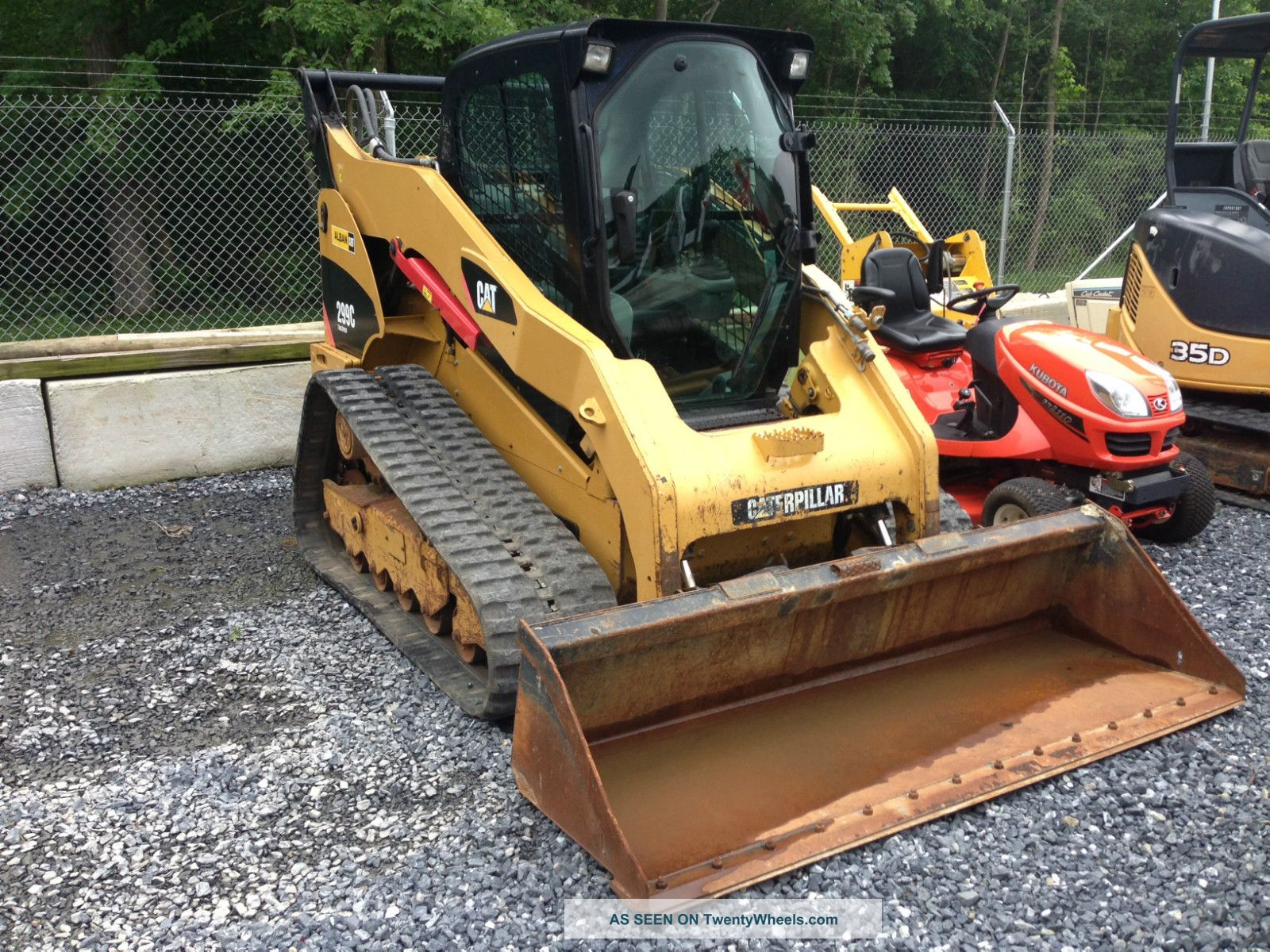 11094 Caterpillar 299c track loader with cab  ac  80  bucket and more
