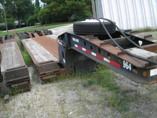 1998 Trail King Hg Lowboy Trailer Non Ground Bearing Hydraulic.  Removable Neck photo